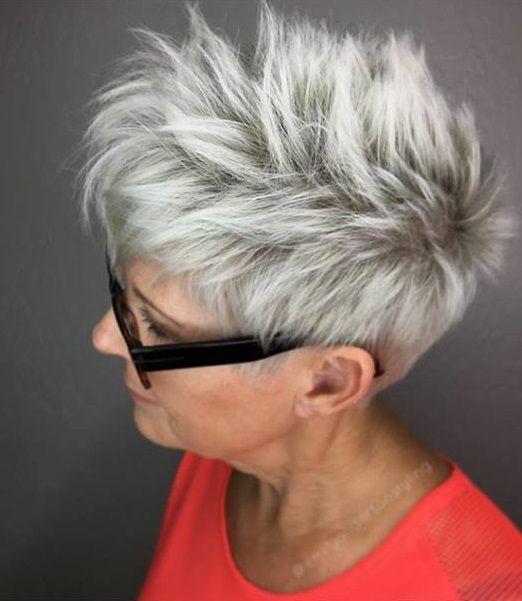 Die besten 25 frisuren f r graue haare ideen auf - Bob silberblond ...