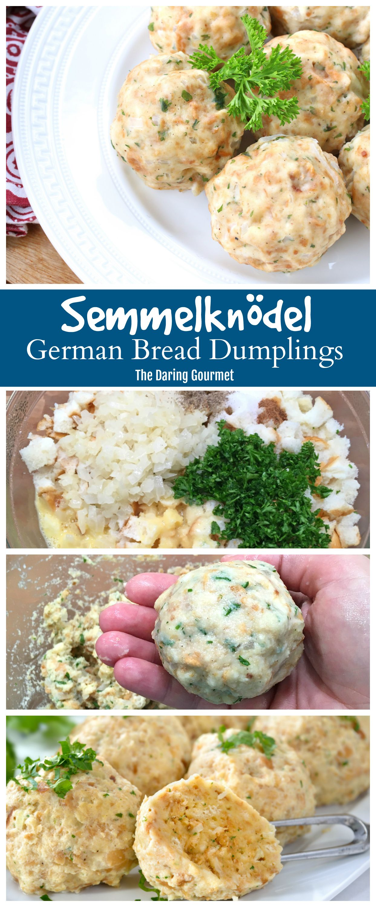 Semmelknödel (German Bread Dumplings)