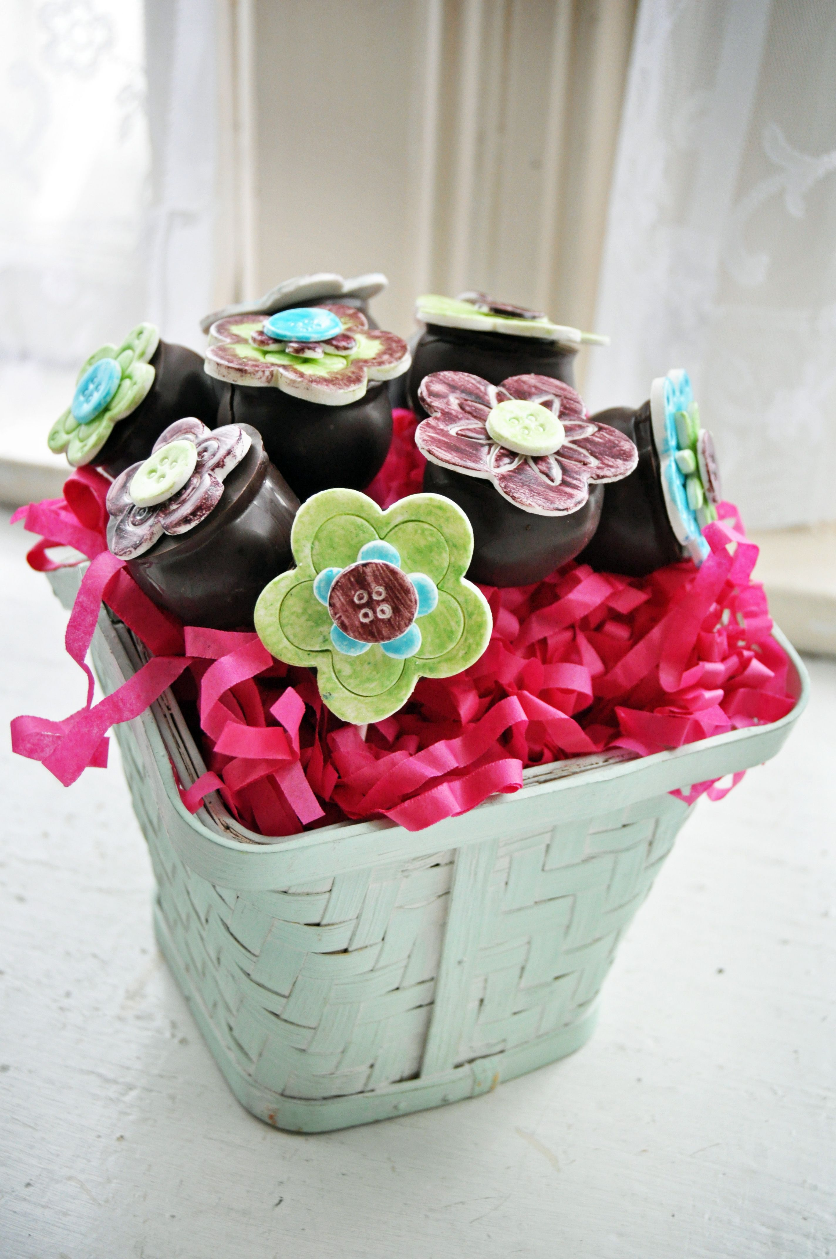 Whimsical Cake Pop Bouquet!  Perfect centerpiece idea, or Mother's Day gift. #cakepopbouquet
