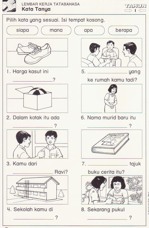 Latihan Kata Tanya 1 Jpg 972 1487 Malay Language Language Activities English Worksheets For Kids