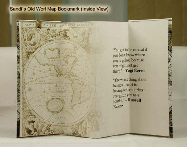 Enjoy watching my old world map bookmark printable bookmarks old world map folded bookmark gumiabroncs Images