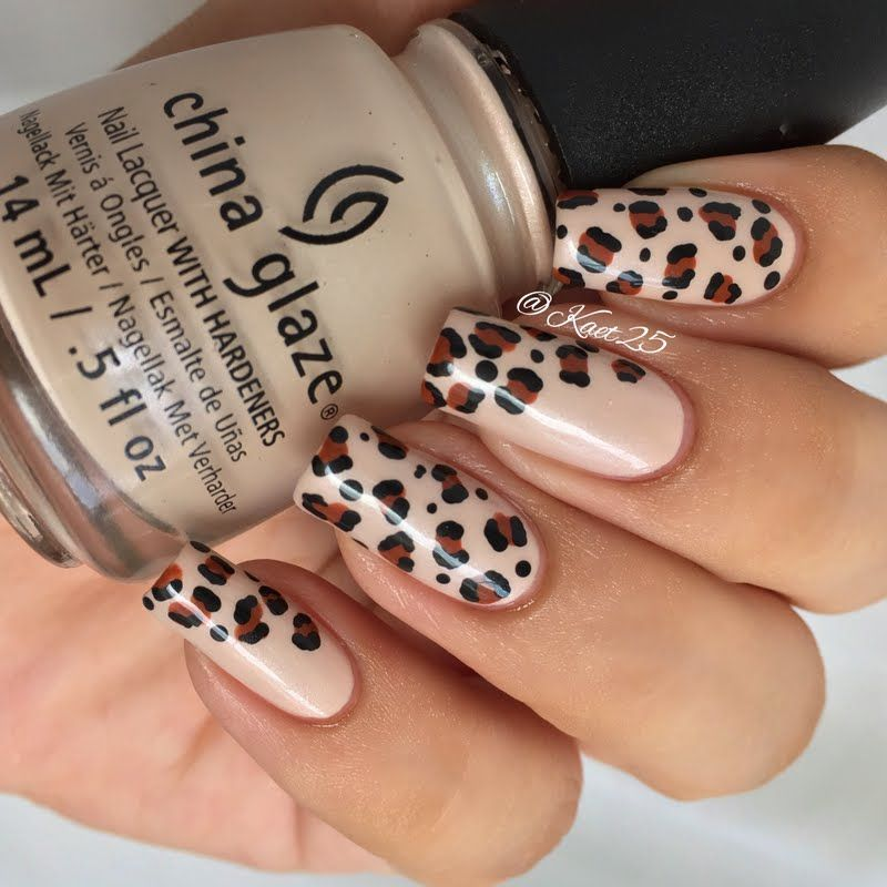 Preen.Me nail artist Ka3t N goes wild in this animal print #manicure ...