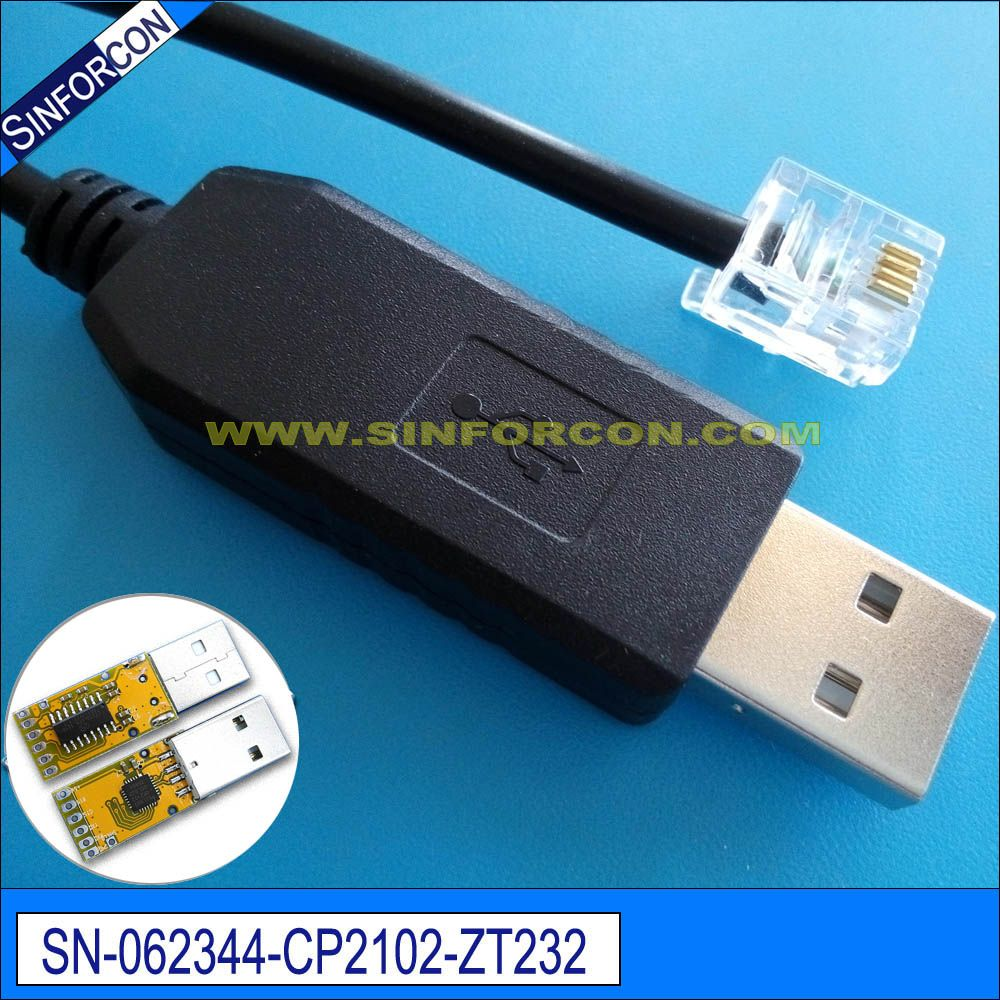silabs cp2102 usb rs232 serial adapter cable with rj11 rj12 rj45 rj50 rj25 rj9 [ 1000 x 1000 Pixel ]