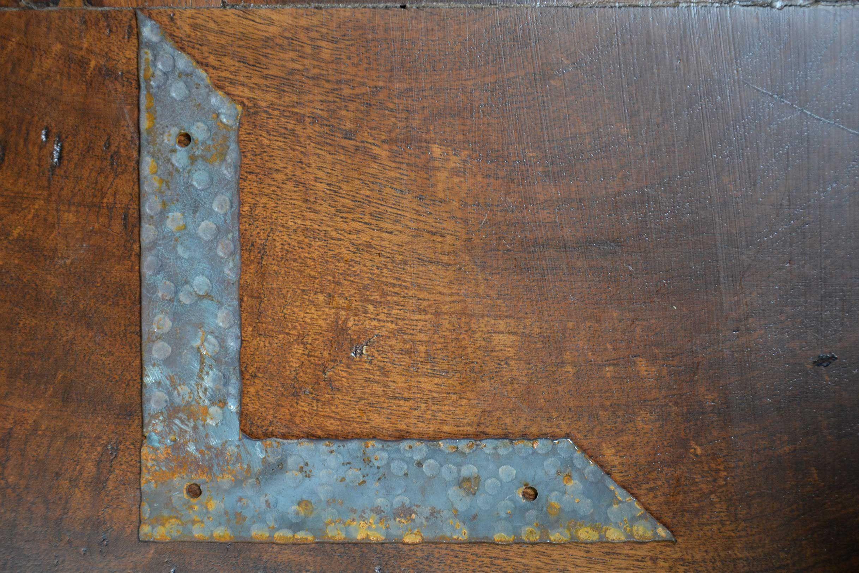 Angled iron strap rustic furniture hardware old world