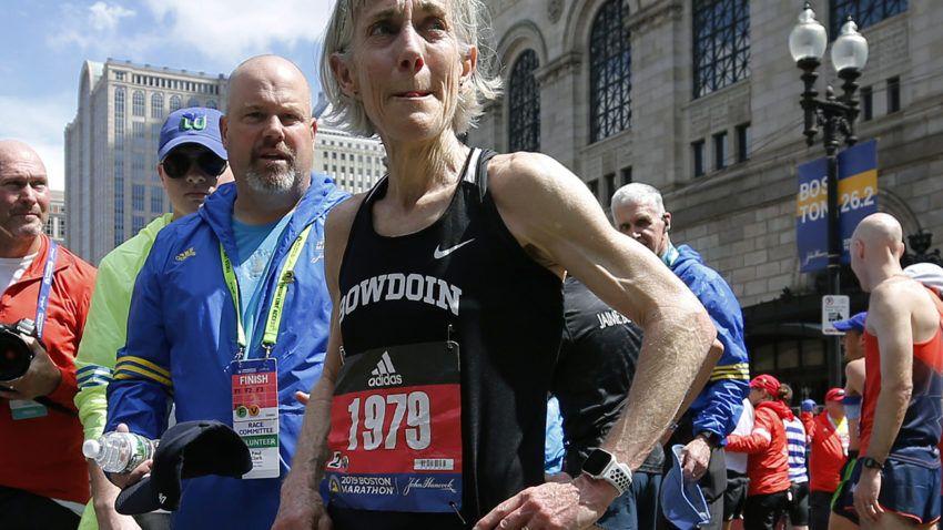 Joan Benoit Samuelson made good on her 2019 Boston