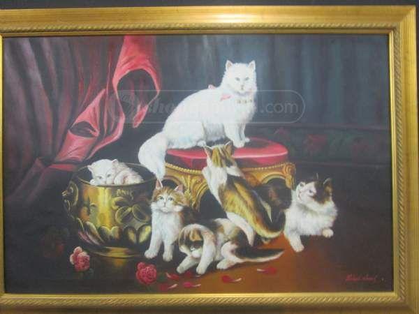 shopgoodwill.com: Richard Hines - Cats Playine