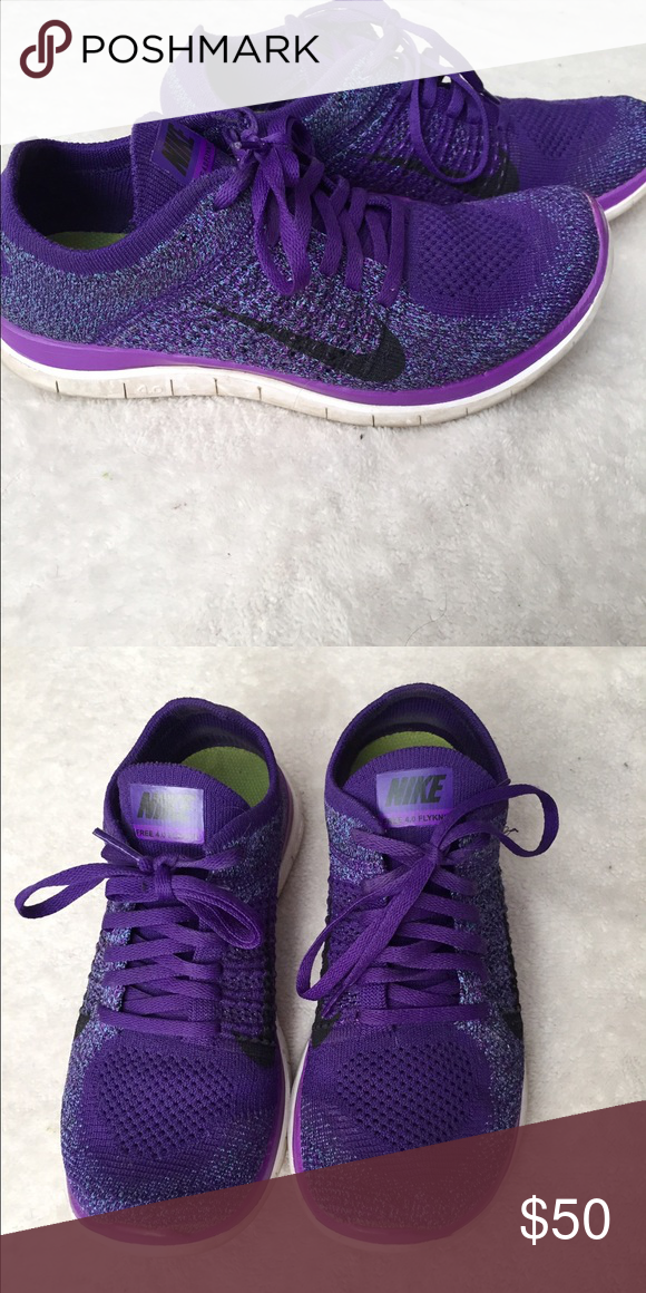 Nike Flyknit Nike Flyknit. Purple. Great condition. Size 7.5 Nike Shoes Athletic Shoes