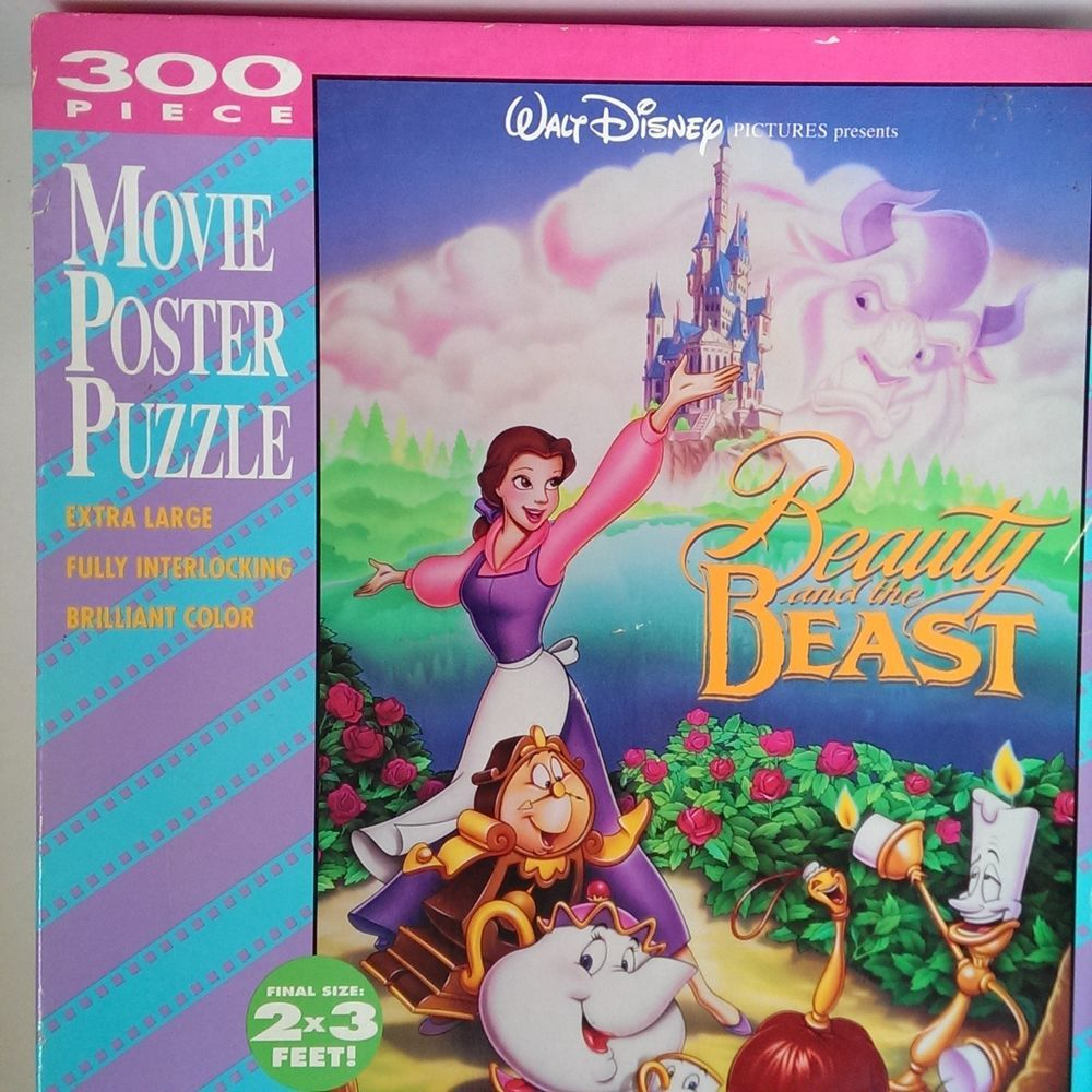 beauty and the beast movie poster puzzle 300 pieces 2 x 3