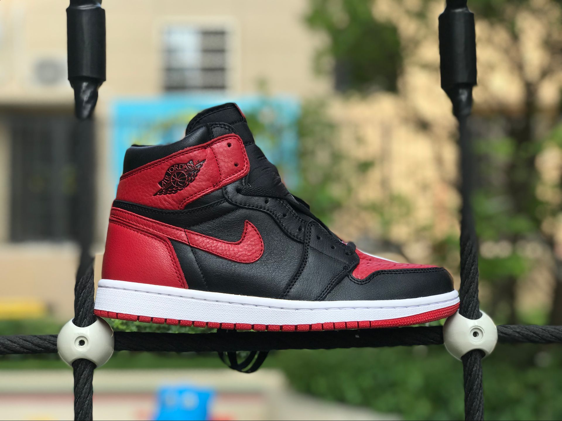 Air Jordan 1 Retro High OG Homage to Home Black White-University Red 861428- 061 98736ae6f