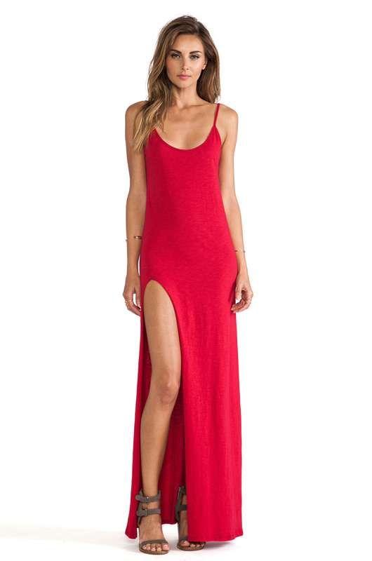 Sencillos Maxi Vestidos Con Abertura En La Pierna Moda 2014 Http Vestidoparafiesta Com Sencillo Vestidos Rojos Largos Vestido Largo Sencillo Vestidos Largos