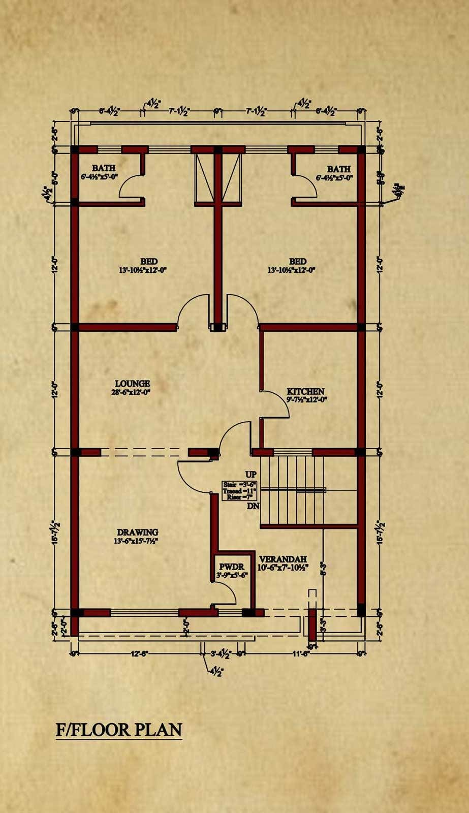 House Floor Plan By Image Concept 8 Marla House Plan Bungalow Floor Plans House Flooring House Floor Plans