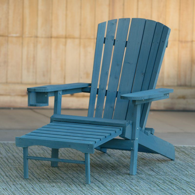 Big Daddy Adirondack Chair Summer High Cover Outdoor Coral Coast With Pull Out Ottoman And Cup Holder Blue Fc101 1