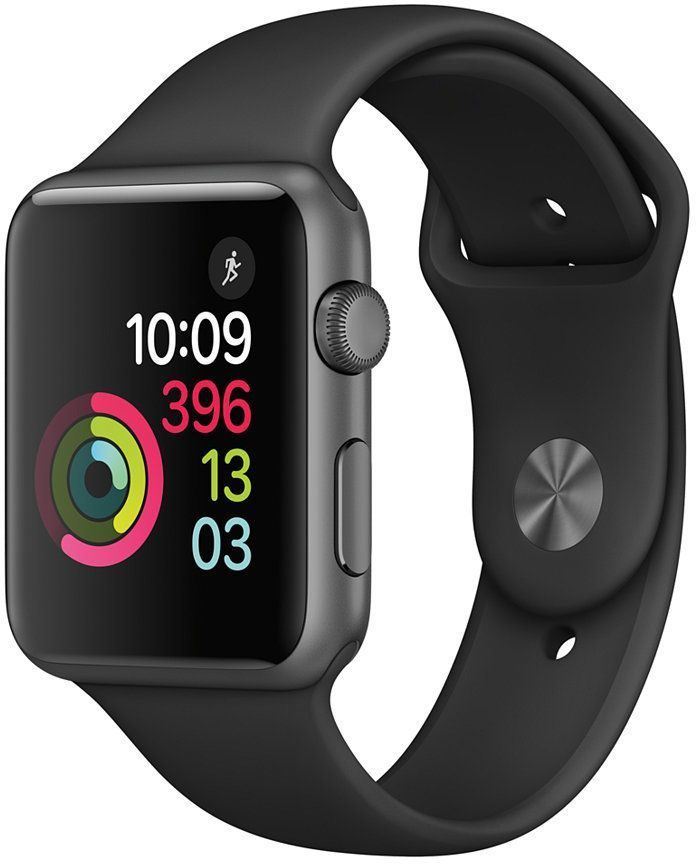 Apple Watch Series 1 42mm Space Gray Aluminum Case With Black Sport Band Buy Apple Watch Apple Watch Series Apple Watch Series 2