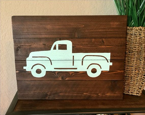 Vintage Truck Silhouette Pallet Wood By HillCountryREHASH On Etsy