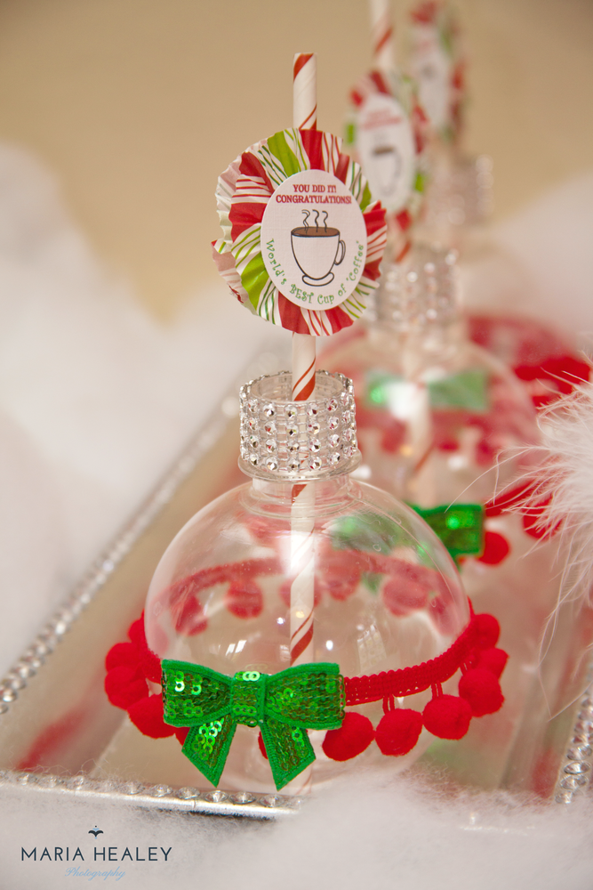 Exceptional Christmas Party Planning Ideas Part - 12: Decorated Ornament Cups At An Elf Christmas Party! See More Party Planning  Ideas At CatchMyParty