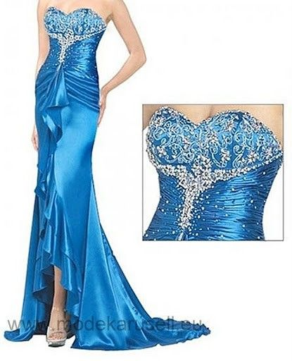 Luxus Abendkleid Lang Dunkelblau | Blaues abendkleid ...
