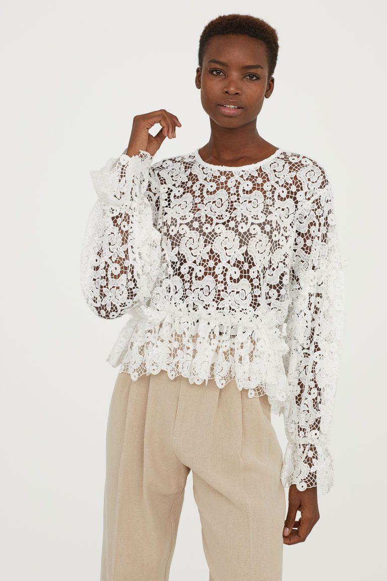 Kanten blouse dames
