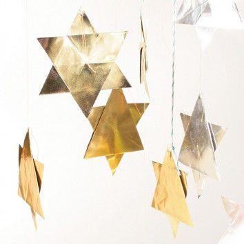 Goldsilber-Faltsterne