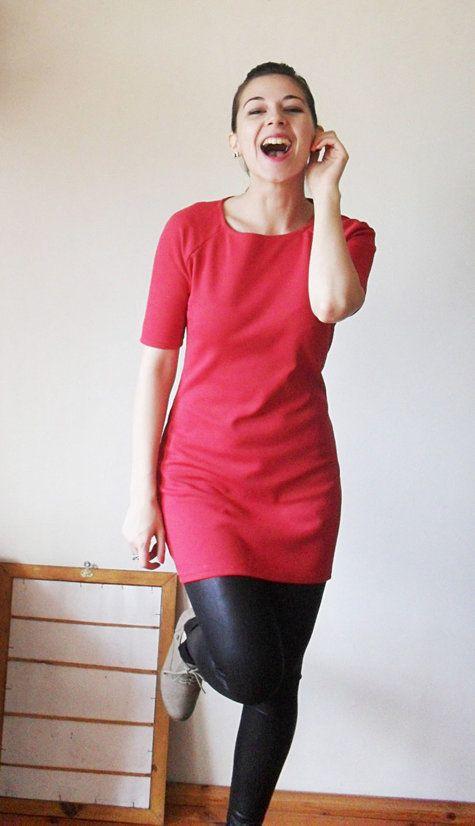 Simple dress pattern | Pinterest | Schnittmuster, Damen kleider und ...