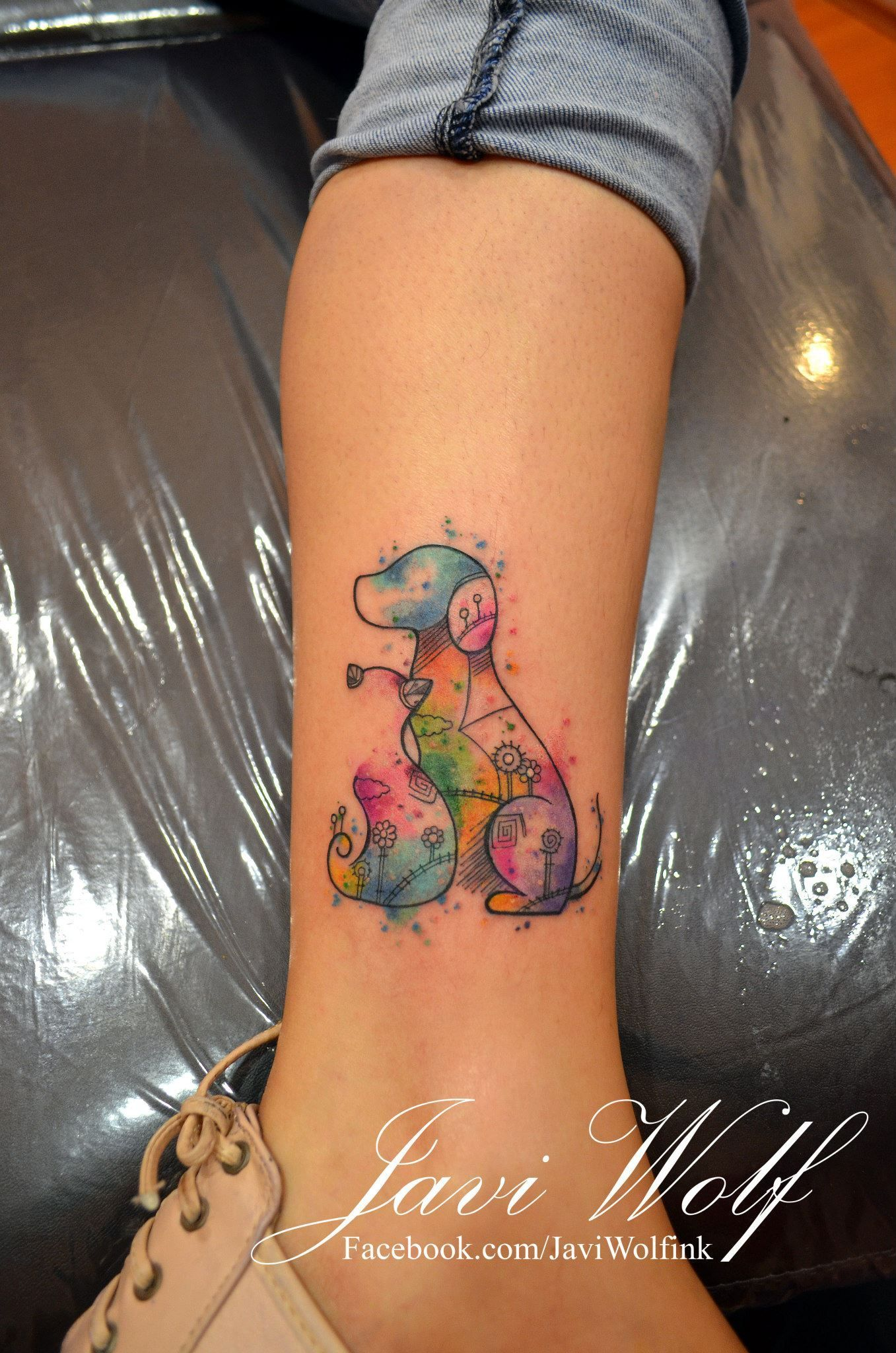 Find Here Watercolor Style Splashes And Tattoos Designs For Your