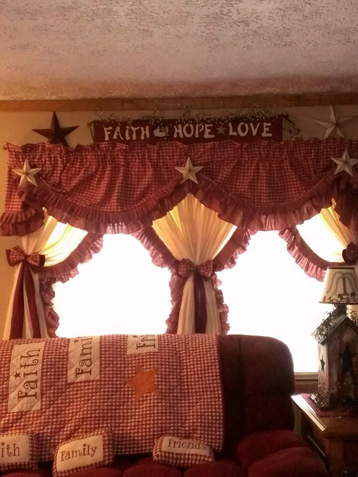 Country Primitive Curtains For The Home Pinterest