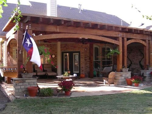 Backyard Covered Patio Ideas | Arbor And Attached Covered Patio With  Screened In Porch Covered Patio