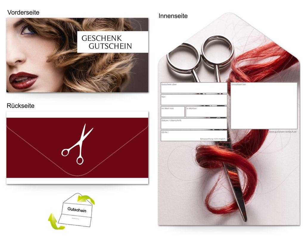 Motiv Friseur Hairdresser Gutscheinvorlagen Gutscheine Gutschein Vorlage Geschenke