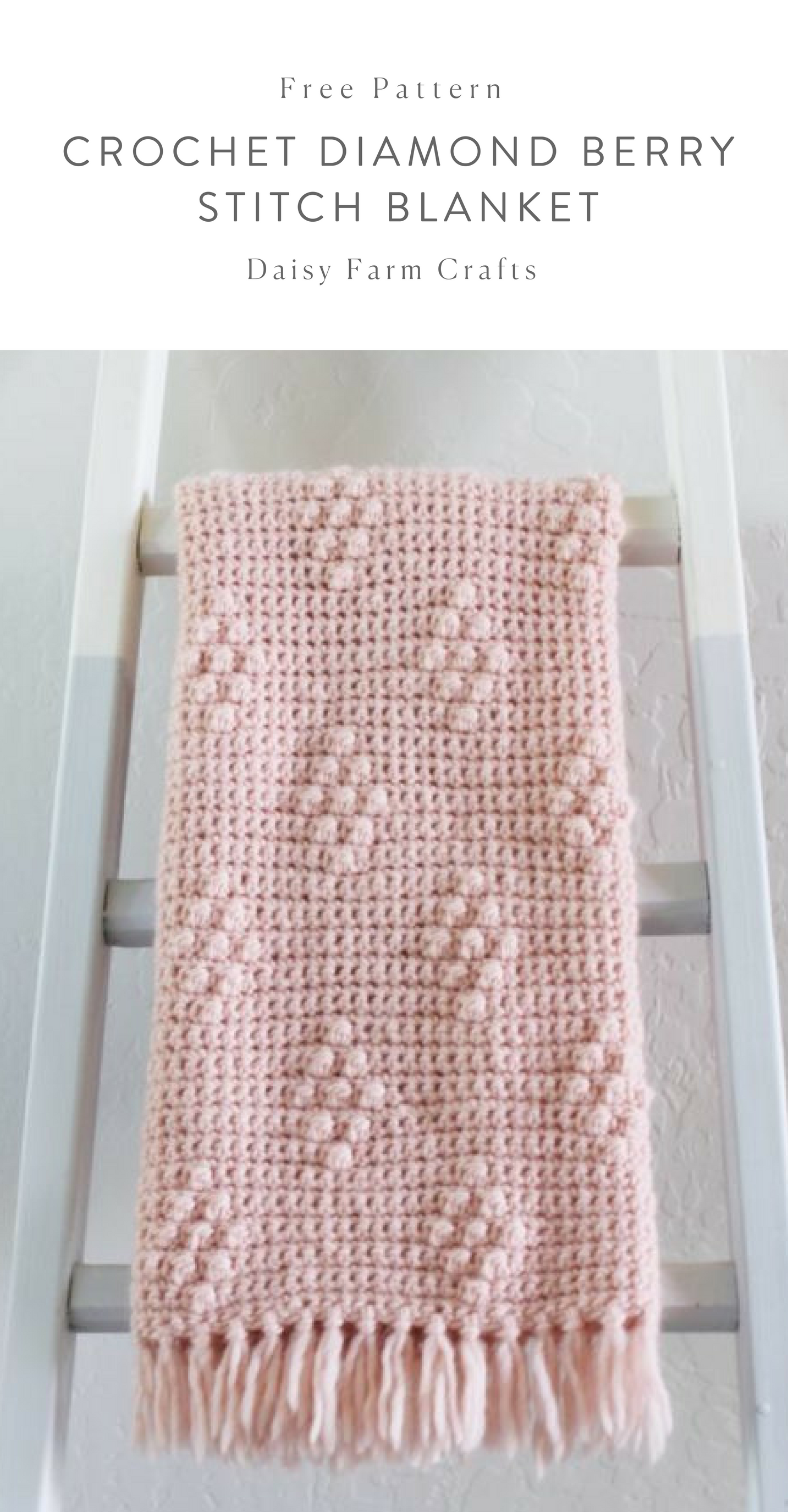 Free Pattern - Crochet Diamond Berry Stitch Blanket #crochet ...