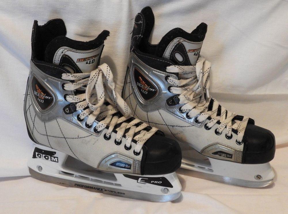CCM Vector 4.0 Ice Hockey Skates Adult Size 7.5 Vector