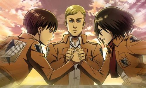The Ultimate Arm Wrestle  (Levi and Mikasa)   snk   Attack on titan