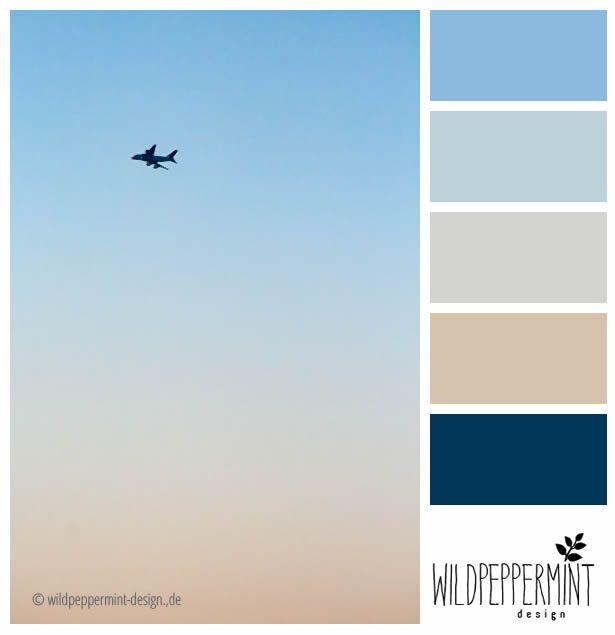 Farbpalette, kühl, leicht, frisch, blautöne,beige - farbgestaltung wohnzimmer beige