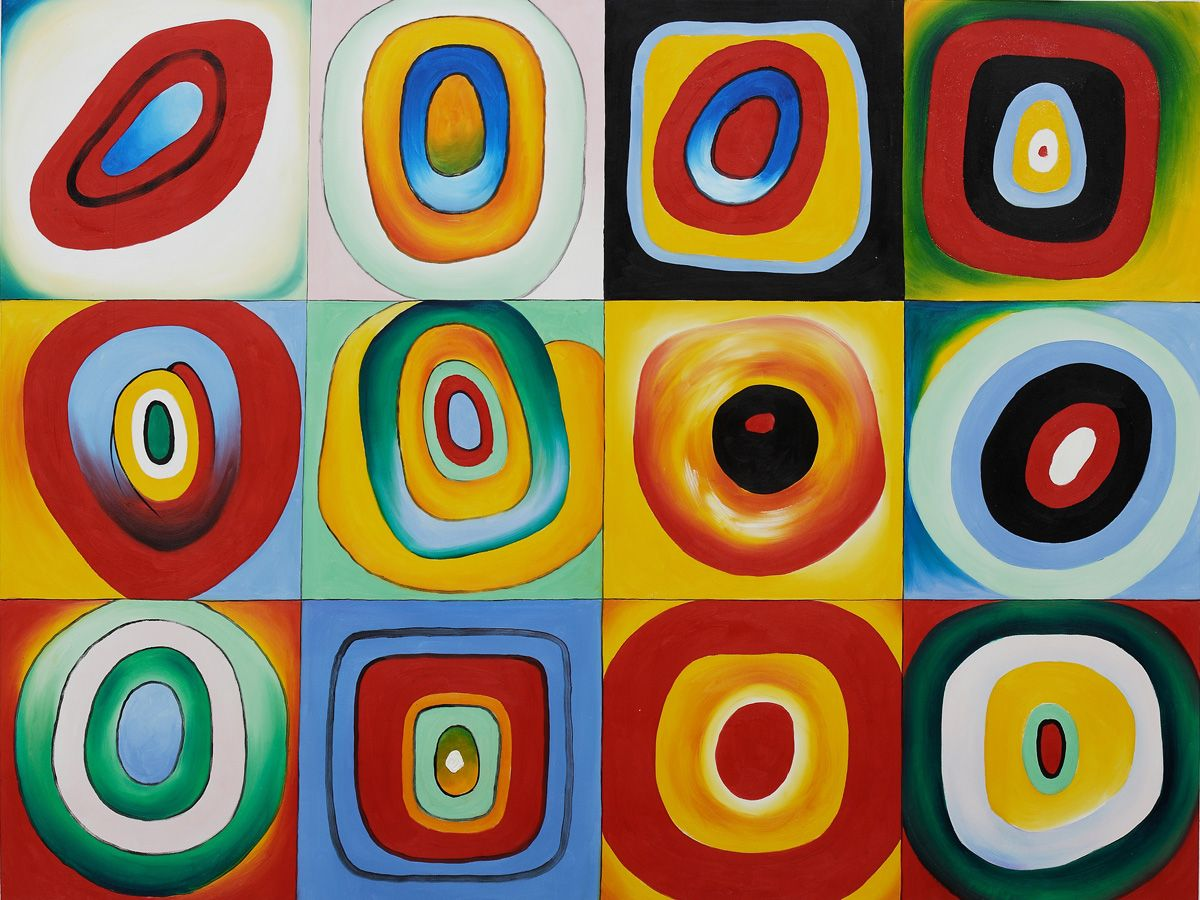 Color Study: Squares with Concentric Circles Archives ...