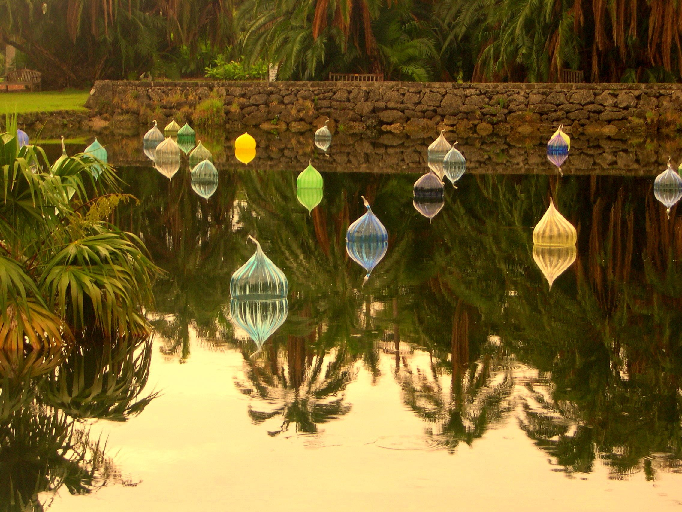 Chihuly floats - Fairchild Tropical Garden | Reflection ...