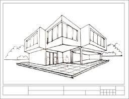 Perspectiva oblicua con dos puntos de fuga edificio ile for Exterior un punto de fuga