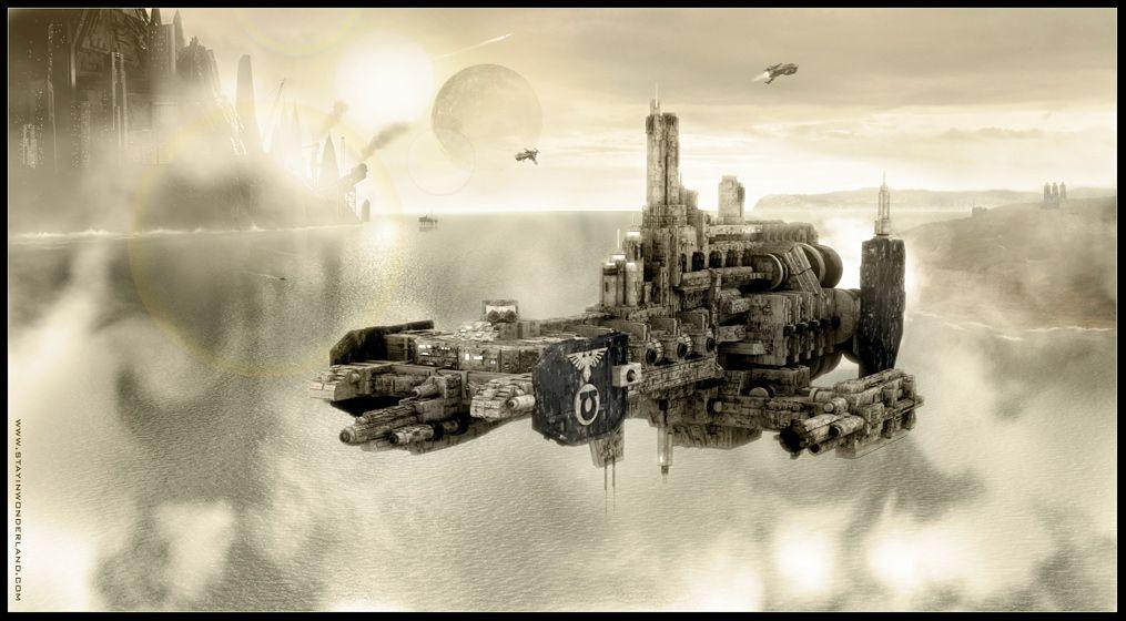 Space Marine Strike Cruiser By Digital Fluids Space Marine