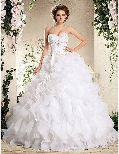 White Ruffle Wedding Dress