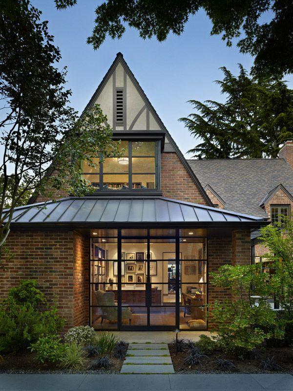 Tudor Home Features A Stunning Modern Twist On Lake Washington