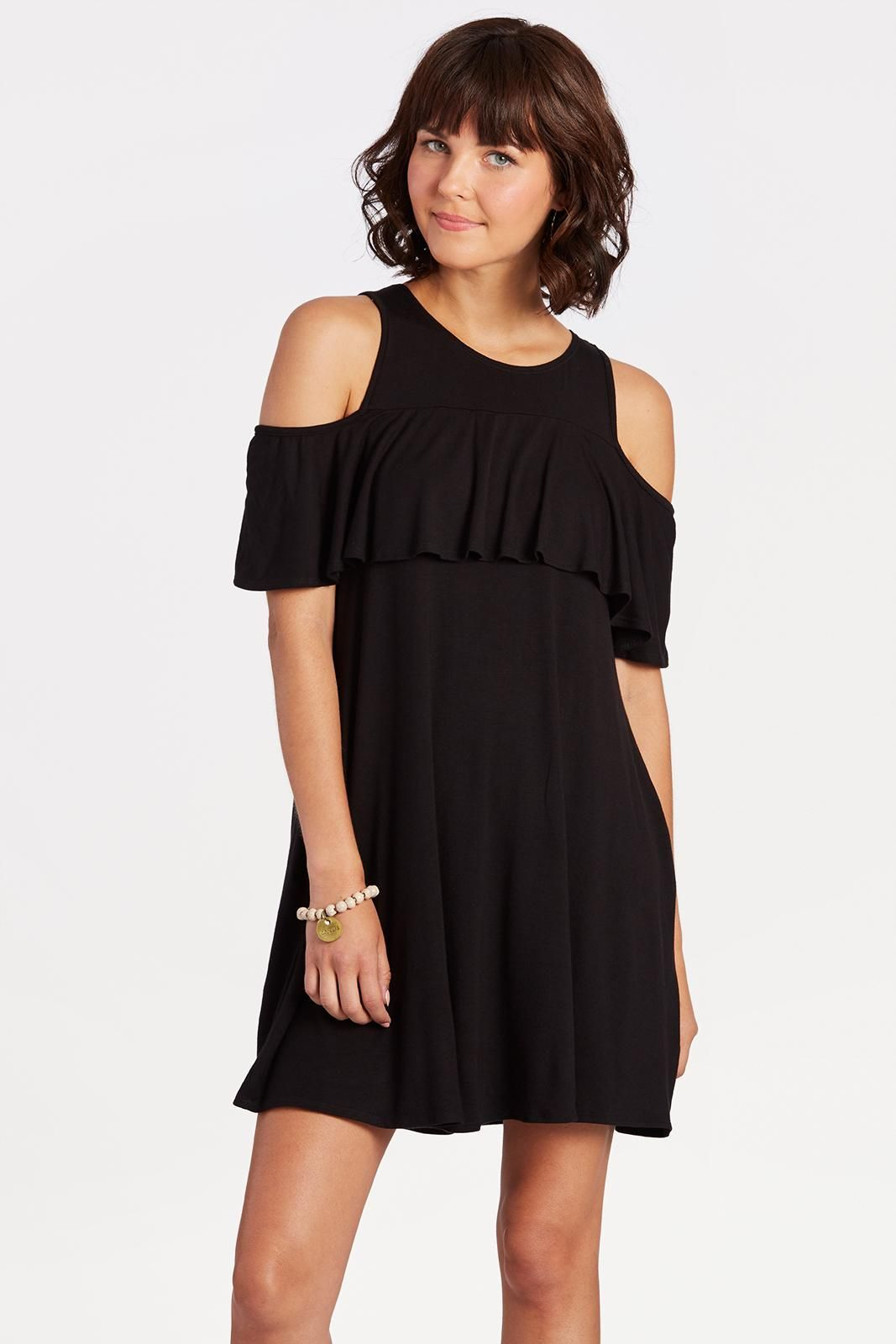 5c930be67f5 Ruffle Cold Shoulder
