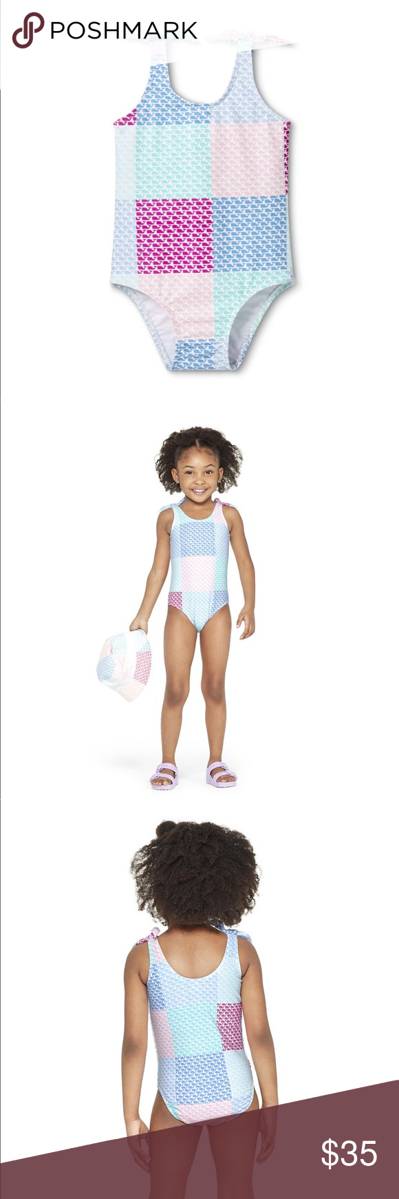 ca9585d1abfc6 🆕NWT Vineyard Vines forTarget Patchwork Swimsuit Toddler Girls' Patchwork  Whale One Piece Swimsuit -