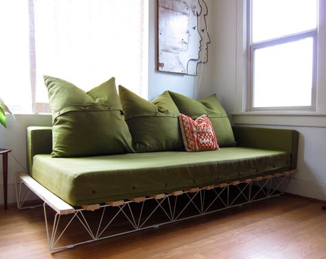 diy this platform sofa was created by genevieve dellinger as a chic inexpensive alternative to the sofas on the market using a platform bed base and