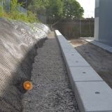 Retaining Wall Using Interlocking Concrete Legato Blocks Concrete Retaining Walls Retaining Wall Design Precast Concrete