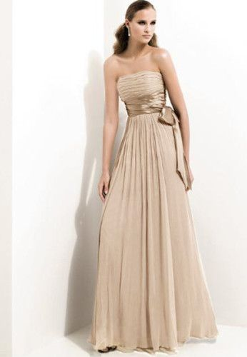 18 Bridesmaid Dresses Under 100 By Lulu S: N423 Champagne CHIFFON Bridesmaid Gown Wedding Long Dress
