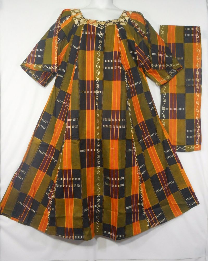 Womens dashiki dress african kente traditional maxi caftan kaftan
