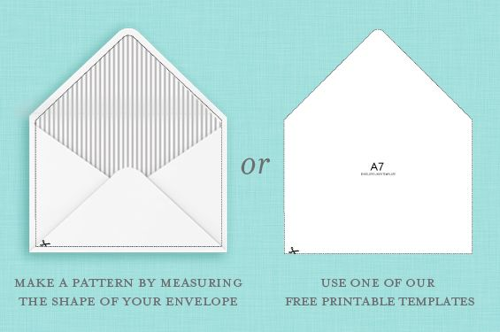 Free Envelope Liners and Templates Wedding - a7 envelope template