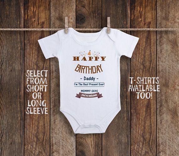 Baby Bibs Burp Cloths Happy Birthday Daddy Embroidered Bib Gift Dad Father Cute