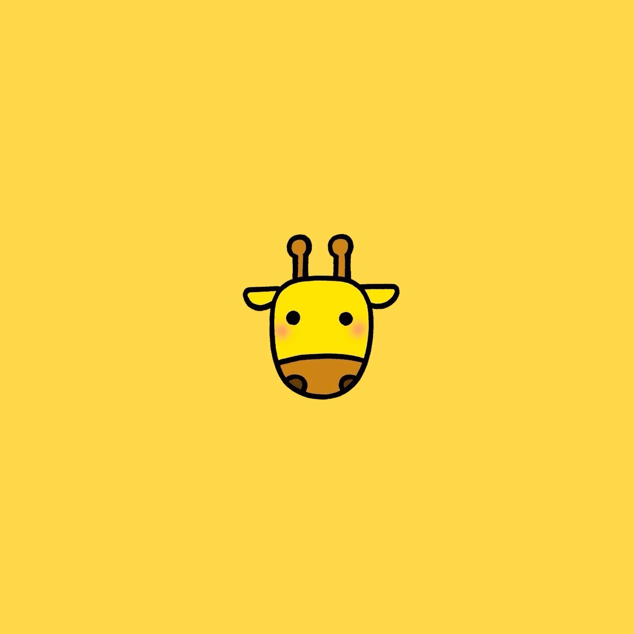 Giraffe Giraffe Illustration Minimal Wallpaper Giraffe