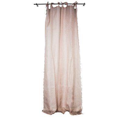 Ophelia Co Cleland Raw Edge Single Sheer Curtain Panel
