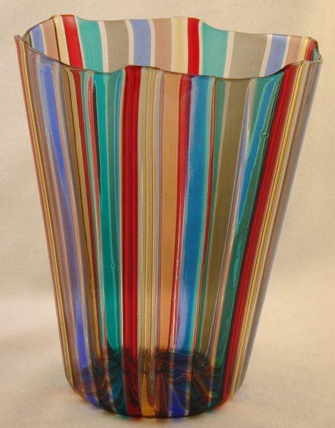 Gio Ponti A Canne Vase For Venini Glass Pinterest Glass