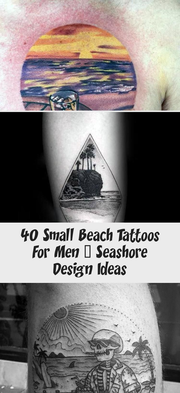 20 Small Beach Tattoos For Men – Seashore Design Ideas   Tattoo ...