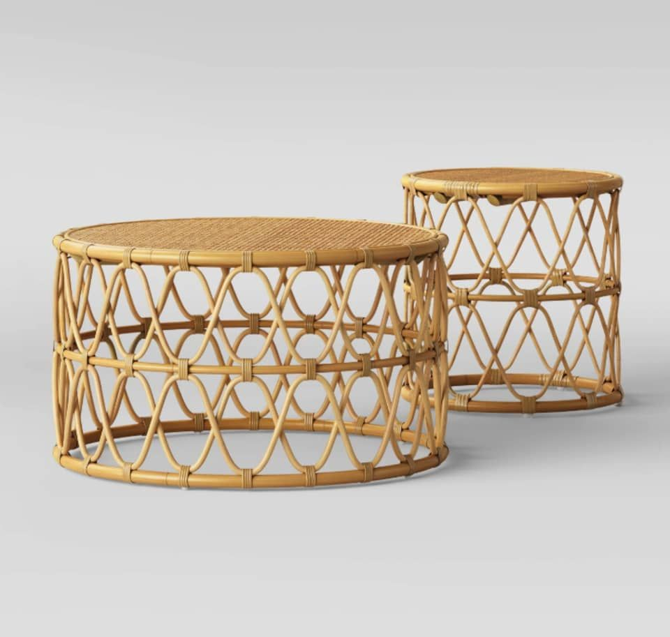 Nesting Tables Are The Easiest Way To Add A Layered Look To Your Living Room Coffee Table And Side Table Set Living Room Table Sets Round Coffee Table [ 913 x 960 Pixel ]